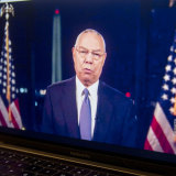 Former US secretary of state Colin Powell endorses Joe Biden during the virtual Democratic National Convention.