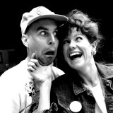 Warren Coleman and Angela Moore before a 1985 season at Belvoir St Theatre.
