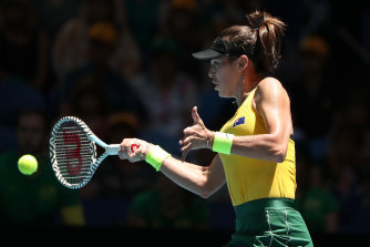 Australian Ajla Tomljanovic on debut in Perth.