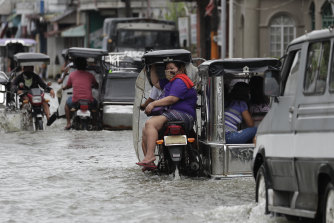 Typhoon Molave caused widespread flooding in the Philippines on Monday.