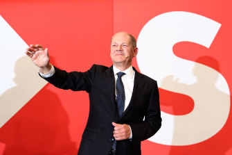 Olaf Scholz has sought to claim a mandate following the election.