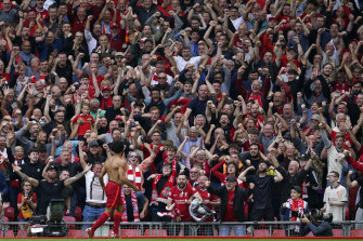 Mohamed Salah scored the Reds' second.
