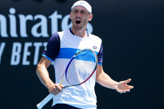 John Millman downed Frenchman Ugo Humbert in four sets to move into the second round.