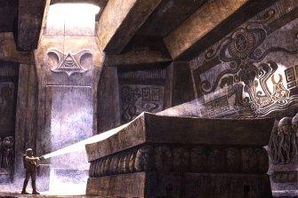 One of Cobb's conceptual designs for Alien.
