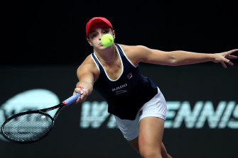 Focus: Ashleigh Barty on point in China.