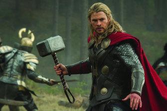 Chris Hemsworth in Thor: Love and Thunder .