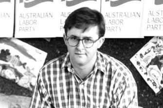 "Albanese in 1994. One Labor party member says Albo's nickname was ""the baby-faced assassin""."