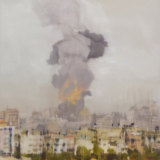 Kate Steven's 'Gaza'. The winning painting features the war-torn city of Gaza.
