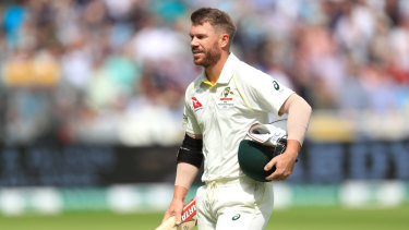 David Warner had a short but eventful stay at the crease in his comeback Test innings.