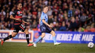 On target: Trent Buhagiar of Sydney FC scores during the FFA Cup semi-final.