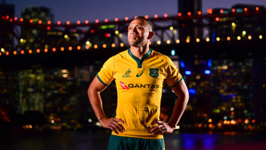 Back in gold: Almost three years since his leukaemia diagnosis, Christian Lealiifano is back in the Wallabies starting side.