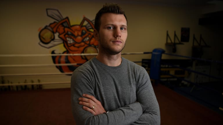 Debrief: Jeff Horn at his gym in Brisbane, where he has been reflecting on what went wrong against Terrance Crawford.