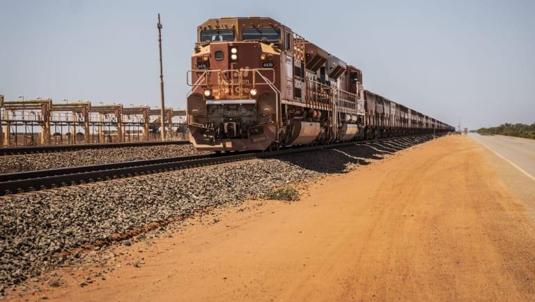 Iron ore bound for Port Hedland.