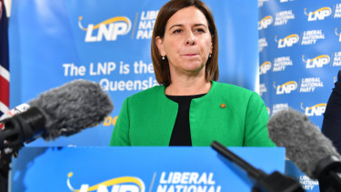 Queensland LNP leader Deb Frecklington has stayed at the top despite the old boys' network.