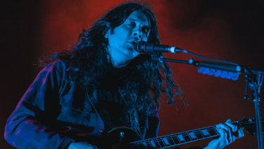 Kurt Vile looked more like a roadie than a rock star at his show at the Forum.