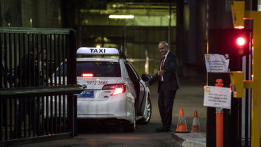 Outgoing NAB chairman Ken Henry had difficulty leaving the ABC's Ultimo headquarters on Friday.