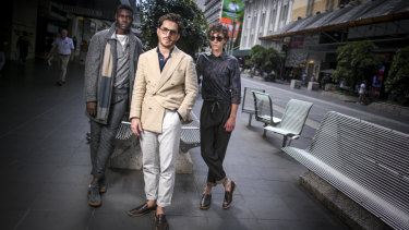 Christian Kimber (centre, with models in his designs) is the 2019 National Designer Award winner.