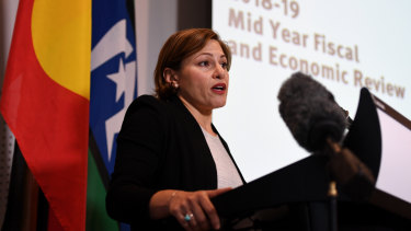 Queensland Treasurer Jackie Trad delivers the mid year budget review on Thursday.