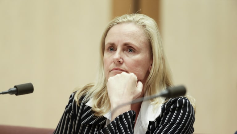 Alicia Atkinson gives evidence at the hearing on Monday.