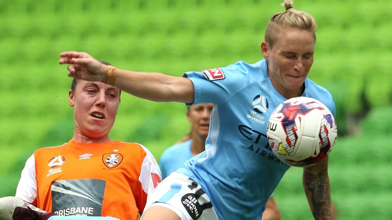 Jess Fishlock's Melbourne city are eyeing a W-League three-peat.