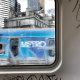 A tagged Metro train.