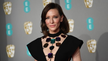 Hair change ... Cate Blanchett arrived at the BAFTAs with a new dye job.