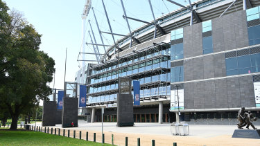 'I'm going to exaggerate a little bit but you can pretty much have the MCG open for say, 20,000 people.'