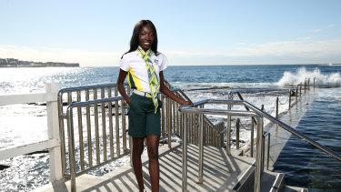 Australian athlete Bendere Oboya.