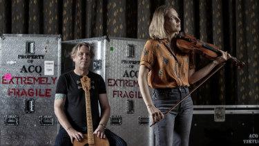 The Australian Chamber Orchestra's Brian Ritchie and principal violin Satu Vanska.