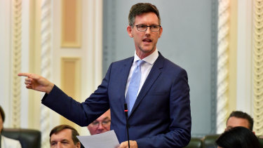 Transport Minister Mark Bailey urged people to use common sense when boarding public transport.