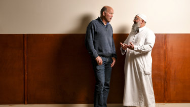 Mustafa Abu Yusuf: 'Clarke (left) and I both believe most people are inherently good but some may become misguided.'