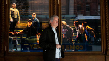 """""""Lead by example"""": producer Rodney Rigby outside the closed-down Capitol Theatre in Haymarket"""