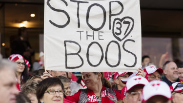 Sydney fans supporting Adam Goodes after he was targeted.