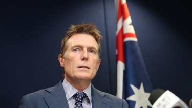 Attorney-General Christian Porter at a March 3 press conference.