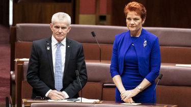 "Senator Malcolm Roberts and Senator Pauline Hanson will abstain from voting on ""non-critical"" legislation."