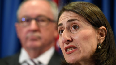 Zero tolerance: NSW Health Minister Brad Hazzard and NSW Premier Gladys Berejiklian.