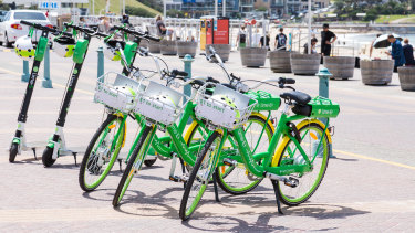 Lime bicycles have appeared on Sydney streets, but scooters may soon follow.