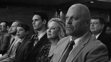 Michael Chiklis (front, right), Virginia Madsen, Cory Michael Smith and Aidan Langford in 1985.