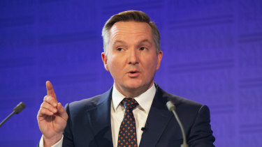 """""""The tax-to-GDP will be the same or lower than John Howard during the forward estimates,"""" shadow treasurer Chris Bowen said."""