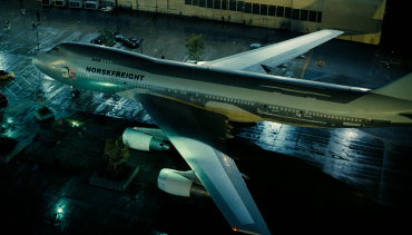 A real life passenger jet was rammed into a building for a scene from Tenet.