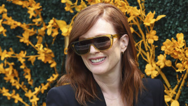 Julianne Moore experiments with a visor style at the Veuve Cliquot Polo Classic in New Jersey last weekend.