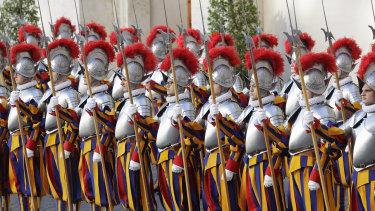 Vatican Swiss Guards.