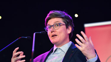 Hannah Gadsby at the launch of the Melbourne International Comedy Festival on Tuesday.