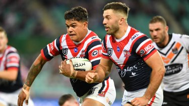 Opportunity: Latrell Mitchell would be cleared for a role at fullback for the Tigers, a position owned by James Tedesco at the Roosters.