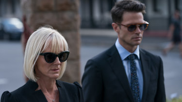 Hermione Norris and Tom Dalzell in Between Two Worlds.