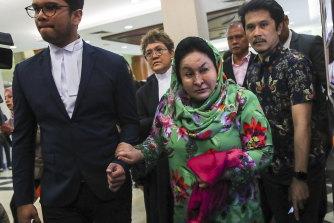 Rosmah Mansor arrives at court in Kuala Lumpur in February.