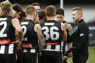 """Jonathan Brown described the Magpies' ball movement as """"deplorable""""."""