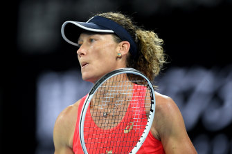 Sam Stosur fell to American Catherine McNally in the first round on Monday.