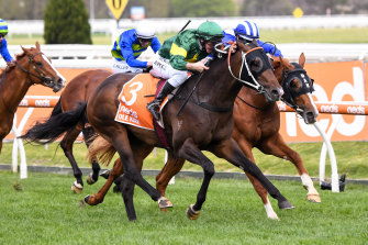 Ole Kirk struggled in the inside part of the Caulfield track, according to trainer Wayne Hawkes.