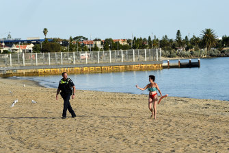 Police started shutting the beach down from 6pm on Friday.